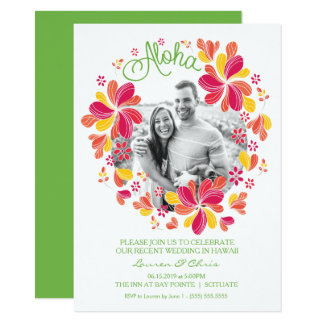 Tropical Luau Party Invitation w/ Photo - Hawaiian