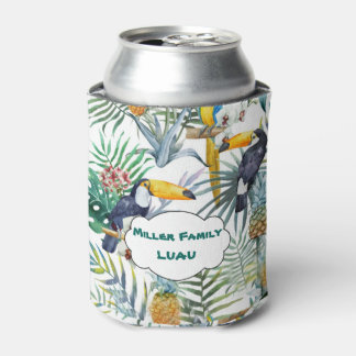 Tropical Luau, Tucan, Pinapple Can Cooler