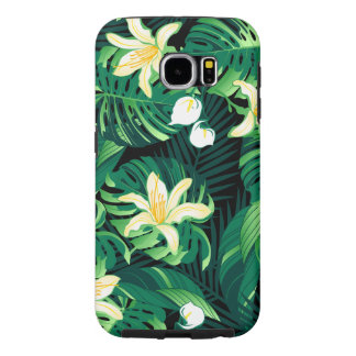 Tropical lush floral samsung galaxy s6 cases