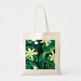 Tropical lush floral tote bag