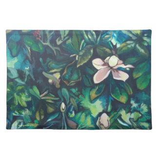 Tropical Magnolia cloth placemat