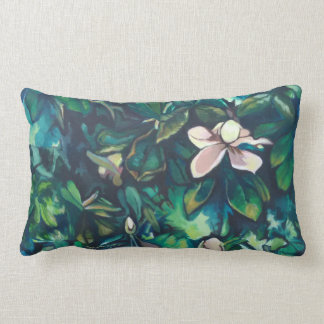 Tropical Magnolia polyester lumbar pillow