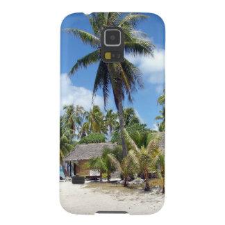 Tropical Maldives Palm Grove Shacks Galaxy S5 Covers
