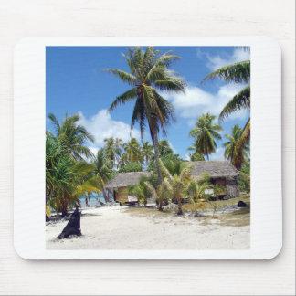 Tropical Maldives Palm Grove Shacks Mousepad