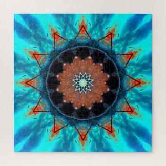 Tropical Mandala Stars Jigsaw Puzzle