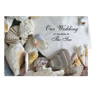 Tropical Melody Folded Seashell Wedding Invitation