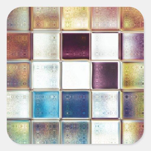 Tropical Memories Mosaic Tile Art Sticker
