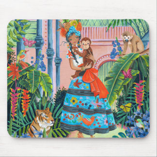 Tropical Mexican Girl | Mouse Pad