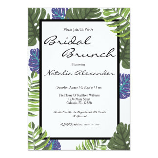 Tropical Modern Floral Bridal Shower Invitation