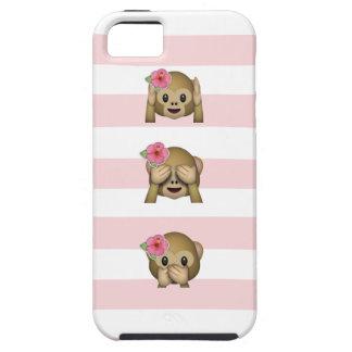Tropical Monkey Emoji Tough iPhone 5 Case