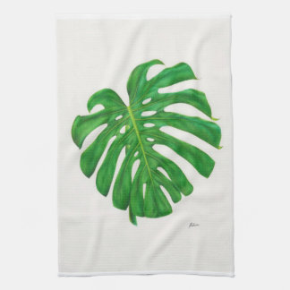 Tropical Monstera Leaf Kitchen Towels