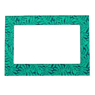 Tropical monstera leaf magnetic frame