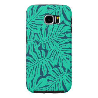 Tropical monstera leaf samsung galaxy s6 cases
