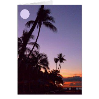 Tropical Moon Card