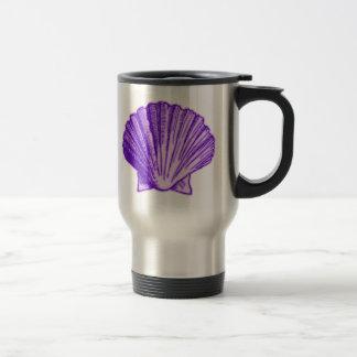 Tropical Moonlight Purple Sea Shell Mug