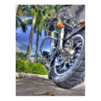Tropical Motorcycle Postcard