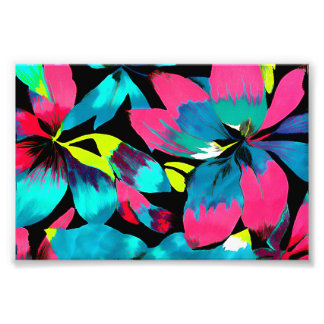 Tropical Neon Splash in Paradise Photo Print