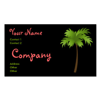 Tropical Night Double-Sided Standard Business Cards (Pack Of 100)