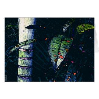 Tropical night card