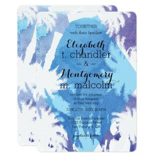Tropical Night Wedding Invite