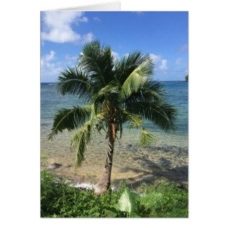 tropical note card