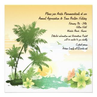 Tropical Oasis Invitation