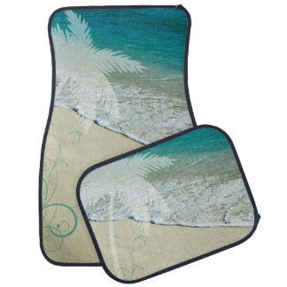 Tropical Ocean and Palm Tree Car Mat