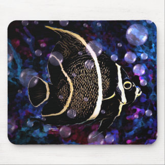 Tropical Ocean Angel Fish Mouse pad