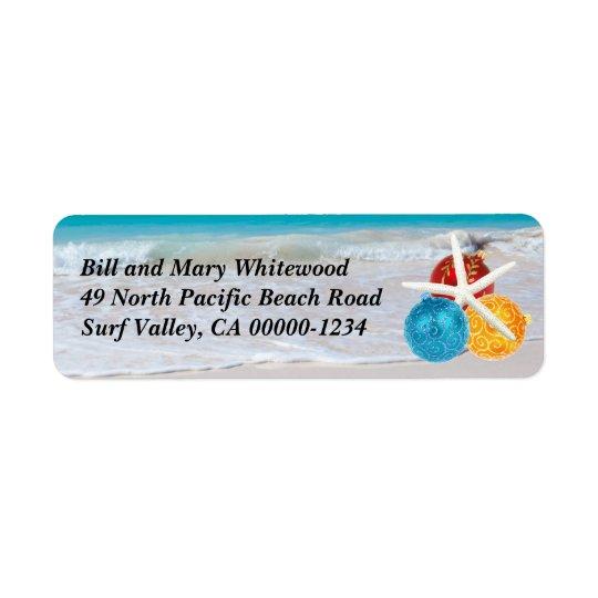 Tropical Ocean Holiday Return Address Label