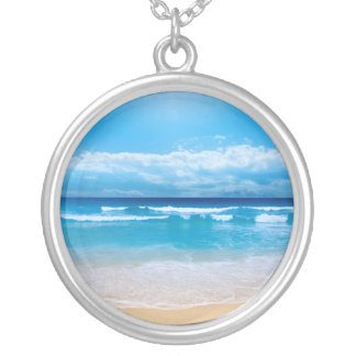 Tropical Ocean Silver Plated Necklace