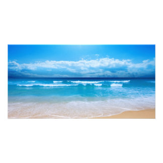 Tropical Ocean View Picture Card