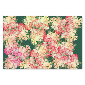 Tropical Oleander Flowers Floral Tissue Paper