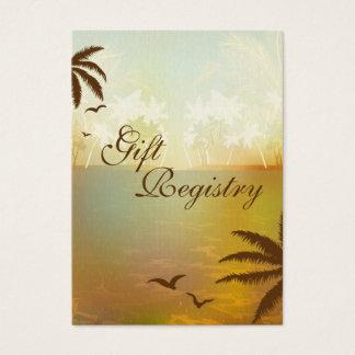 Tropical Orange Beach Gift Registry Cards