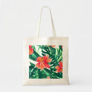 Tropical orange hibiscus tote bag