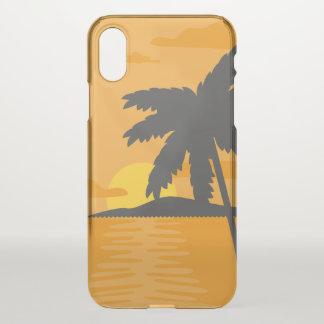 Tropical Orange Sunset & Palm Tree iPhone X Case