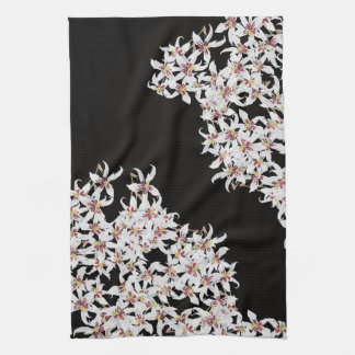 Tropical Orchid Floral Flowers Kitchen Towels