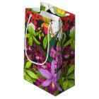 Tropical Orchid Flower Garden Gift Bag