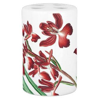 Tropical Orchid Flowers Floral Bath Set