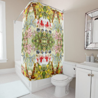 Tropical Orchid Flowers Floral Shower Curtain