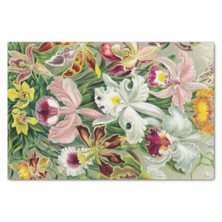Tropical Orchid Flowers Floral Tissue Paper
