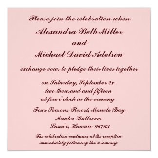 Tropical Orchid Wedding 13 Cm X 13 Cm Square Invitation Card