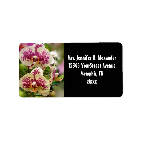 Tropical Orchids Address Label