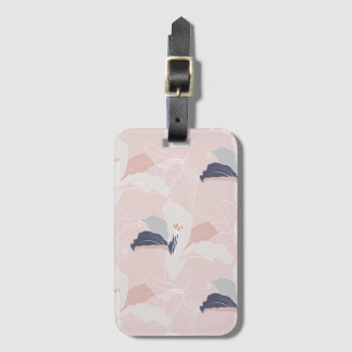 Tropical Outlines Floral Luggage Tag