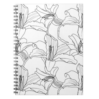 Tropical Outlines Floral Notebook