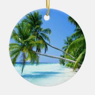 Tropical Palm Beach! Ceramic Ornament