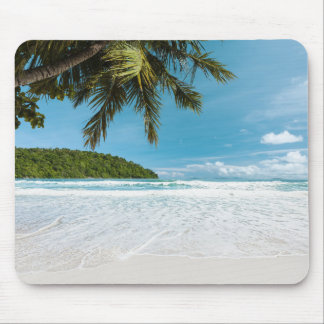 Tropical Palm Beach Mouse Pad