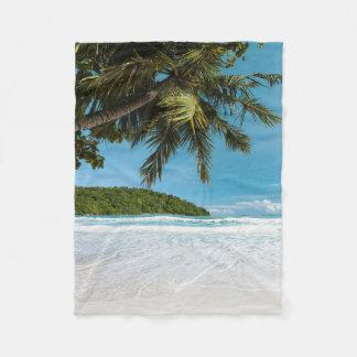 Tropical Palm Beach Small Fleece Blanket