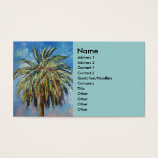 Tropical Palm Business Card