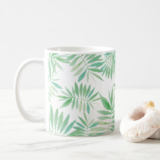 Tropical palm fern storm coffee mug