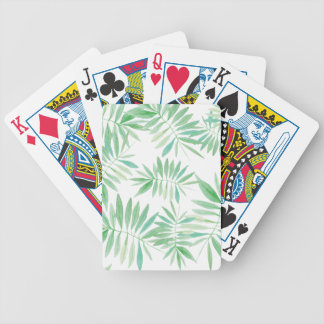 Tropical palm fern storm poker deck